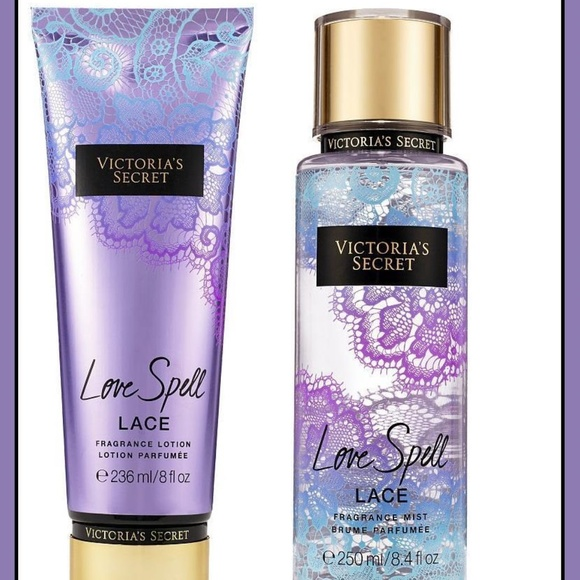 db126793fd126 Victoria's Secret Love Spell Lace FULL SIZE set